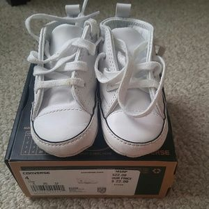 white first star baby converse